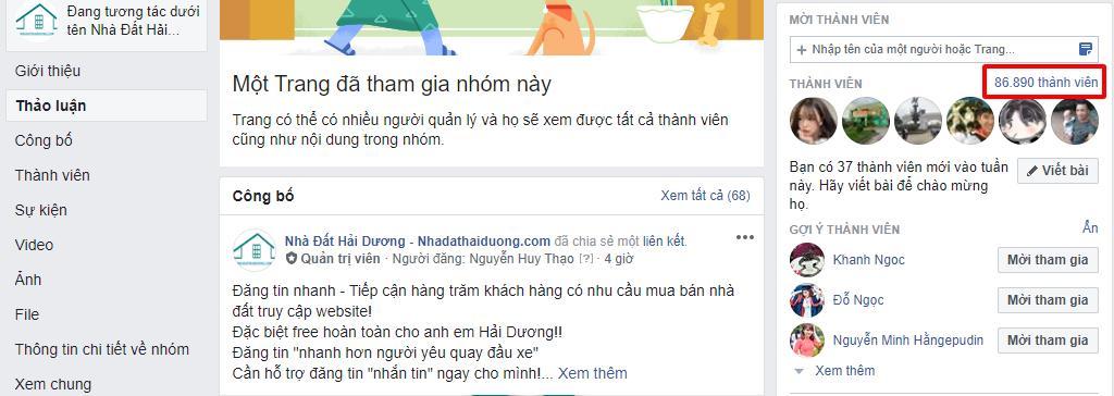 nhadathaiduong.com sở hữu hội nhóm bất động sản lớn nhất Hải Dương